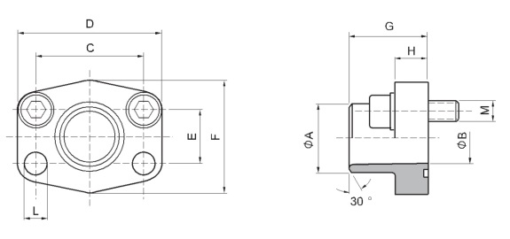SAE Butt weld flanges drawing