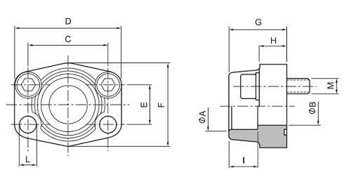 SAE socket weld flanges drawing