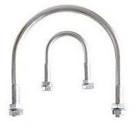 DIN 3570 stainless steel U bolt pipe clamps