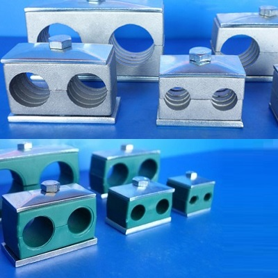 Hydraulic double pipe clamp-twin series