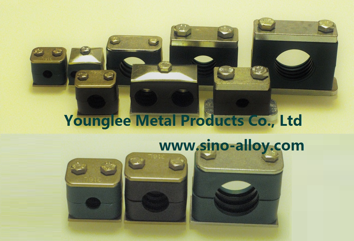 Plastic hydraulic pipe tube clamps