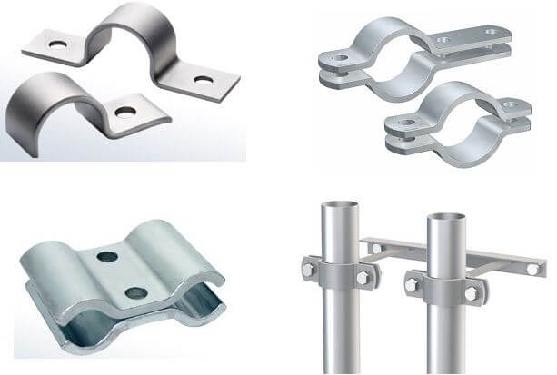 flat steel pipe clamps