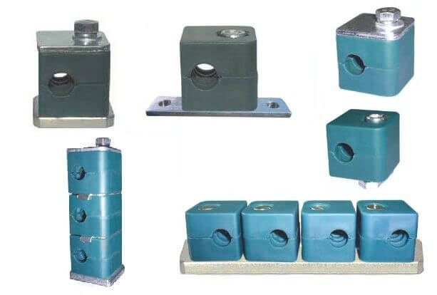 Hydraulic pipe clamps tube metal