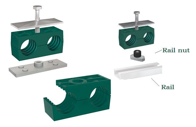 Hydraulic pipe clamps | hydraulic tube clamps | Metal pipe clamps