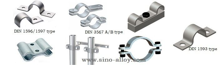 steel pipe clamps types